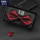 男士伴郎新郎黑色紅色領結襯衫男 結婚婚禮韓式高檔英倫蝴蝶結女 降價兩天
