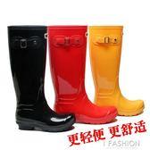 雨靴女成人韓國時尚雨鞋高筒水靴夏pvc水鞋防水防滑下雨穿的套鞋-Ifashion