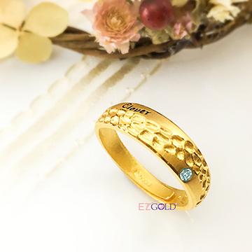 幸運草金飾-沸騰(男)-黃金戒指