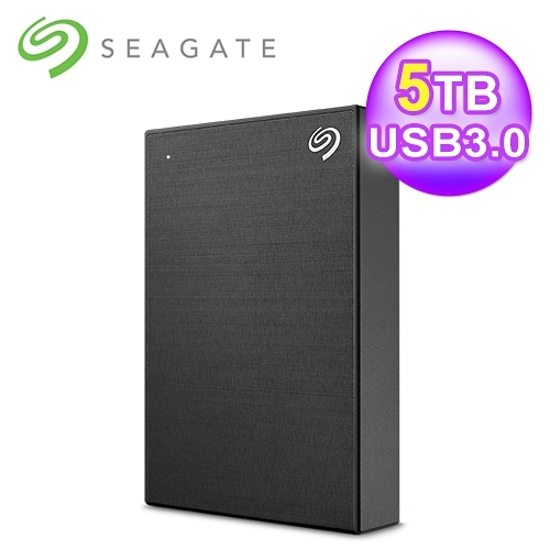 【Seagate 希捷】Backup Plus Portable  5TB 2.5吋行動硬碟 極致黑