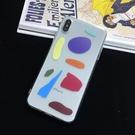蘋果iphone11pro手機殼xr/xs max/7/8plus幾何撞色圖形6s透明