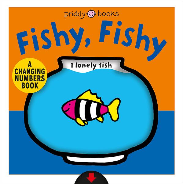 《色彩變化拉拉書》FISHY FISHY /硬頁操作書 【麥克書店】