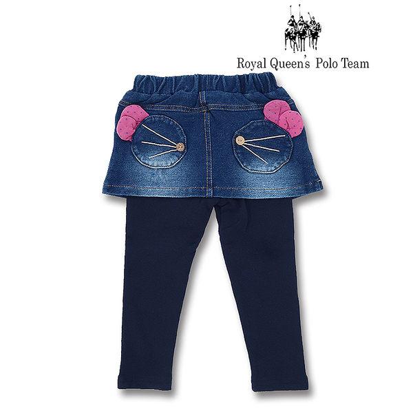 幼童造型口袋牛仔裙拼接內搭褲 RQ POLO 小童秋冬款[88180]