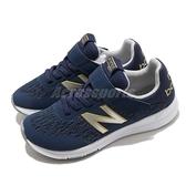 New Balance 慢跑鞋 Premus Version 2.0 NB 寬楦 藍 白 女鞋 大童 中童 魔鬼氈 運動鞋【ACS】 YOPREMNYW