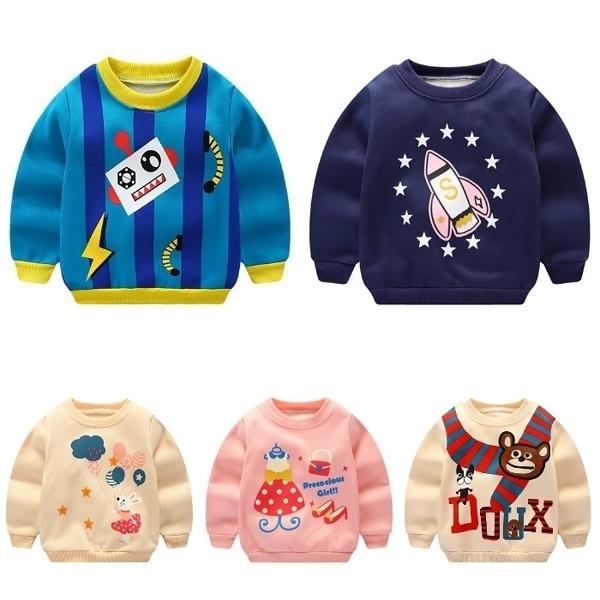 超低折扣NG商品~長袖上衣 加絨長袖上衣T恤 寶寶童裝  ZS14126  好娃娃