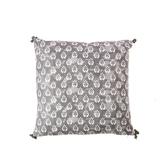 典雅印花抱枕45x45cm-灰