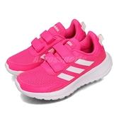 adidas 慢跑鞋 Tensaur Run C 粉紅 白 童鞋 中童鞋 運動鞋 【ACS】 EG4145