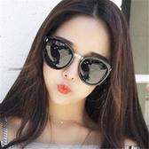 新款復古太陽鏡批發 箭頭米釘時尚韓版墨鏡大框彩膜太陽眼鏡