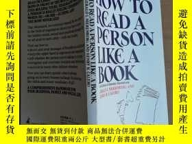 二手書博民逛書店HOE罕見TO READ A PERSON LIKE A BOO