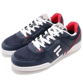 FILA 休閒鞋 C301S 藍 白 世足系列 基本款 鞋面皮革 復古 男鞋【PUMP306】 1C301S313