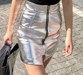 618好康鉅惠 皮短裙包臀裙女春裝2018新款修身皮裙半身裙