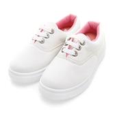 PLAYBOY 經典美感 水鑽鞋孔厚底休閒鞋-白