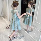 女童洋裝 女童連身裙夏裝薄款2021新款洋氣大童公主裙兒童童裝夏季女孩裙子【快速出貨】