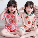 夏季純棉兒童女童睡衣短袖薄款公主風女孩套裝可愛夏天寶寶家居服 童趣屋 免運