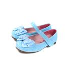小女生鞋 娃娃鞋 蝴蝶結 閃粉 水藍色 童鞋 no209