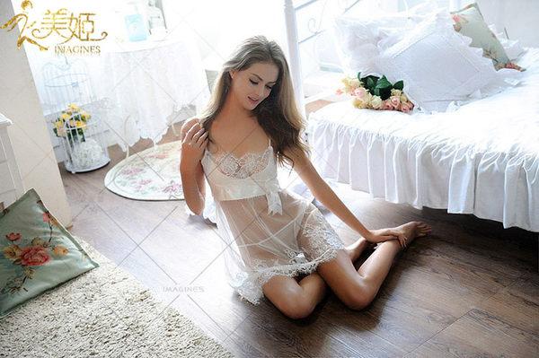 ♥♥衣美姬♥歐美若隱若現 蕾絲紡紗花邊 透視情趣睡衣 夜晚戰鬥服 遊戲服睡裙