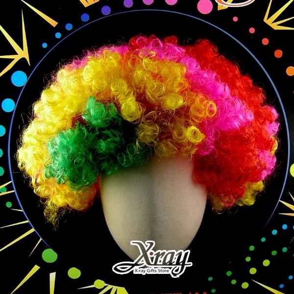 節慶王【W030561】假髮-爆炸頭(小/彩色),萬聖節服裝/表演道具/造型假髮 人氣賣家商品