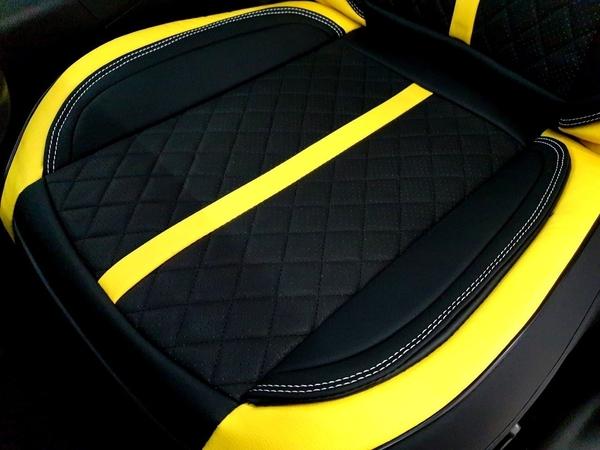 HYUNDAI現代【VENUE法拉利款椅套】2020 VENUE內裝改裝 超跑皮革椅套 座椅保護套 透氣坐墊