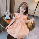 女童洋裝 女童連衣裙2021夏裝新款兒童裝女寶寶格子裙學院風純棉洋氣公主裙 快速出貨