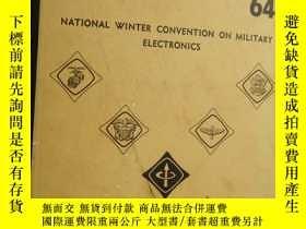 二手書博民逛書店1964罕見National Winter Convention on Military Electronics【