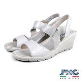 【IMAC】時尚優雅楔型低跟涼鞋  銀灰色(72500-GRY)
