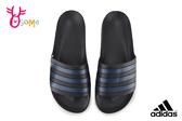 adidas 拖鞋 成人男女款 大童 全防水 經典三線設計 情侶鞋 運動拖鞋 R9324#黑藍◆OSOME奧森鞋業