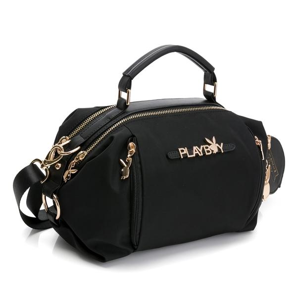 PLAYBOY- 手提包附長背帶 Function系列 -黑色