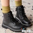短靴女童真皮馬丁靴秋冬英倫風短靴單靴【奇趣小屋】