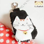 鑰匙包~雅瑪小舖日系貓咪包 啵啵貓招財鑰匙包/拼布包包