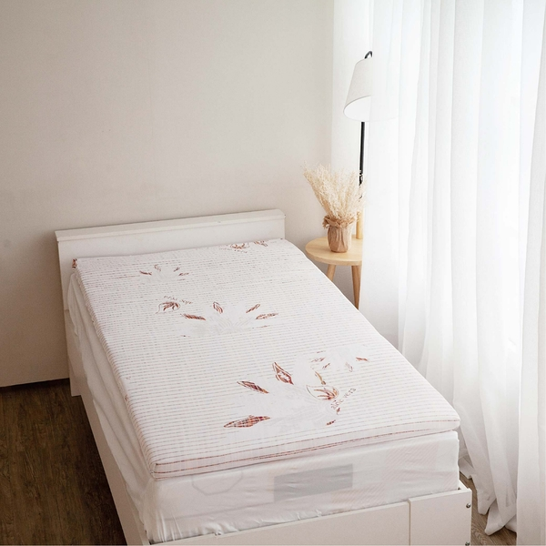 Aloe vera5公分天然乳膠床墊 (雙人 5x6.2尺)