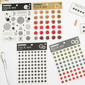 【BlueCat】方形基础系列數字火印圓標貼紙 手帳貼紙