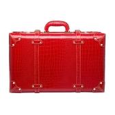 紅色結婚箱子陪嫁箱皮箱新娘嫁妝箱結婚行李箱婚慶官箱密碼手提箱 NMS 樂活生活館