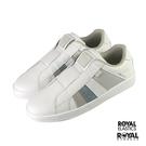 Royal Prince 白色 皮質 套入 休閒運動鞋 女款 NO.J0187【新竹皇家 91494-085】