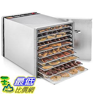 [106美國直購] STX International STX-DEH-600W-SST-CB Stainless Steel Dehydra 10 Tray Food and Jerky Dehydrator 脫水器