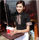 【京東生活小物】鋒銘飯店工作服夏裝西餐咖啡廳餐飲飯店服務員工作服短袖制服