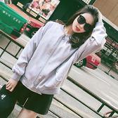 春季上新 刺繡棒球服女春秋2018新款韓版百搭立領寬鬆薄款蝙蝠袖外套短外套
