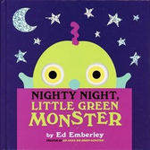 【麥克書店】NIGHTY NIGHT, LITTLE GREEN MONSTER /英文繪本+CD