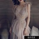 晚禮服2021新款宴會高貴氣質平時可穿氣場女王生日派對洋裝【全館免運】