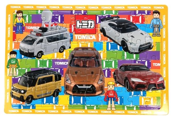 【卡漫城】 TOMICA 兒童 60片 拼圖 人偶 ㊣版 益智 戲 台灣製 賽車跑車 多美小汽車 採訪車 交通工具