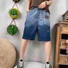 漸層貼布繡牛仔短褲牛仔褲五分褲女【96-17-880210507012-21】ibella 艾貝拉