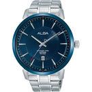 ALBA雅柏 爵士時尚手錶-藍x銀/44...