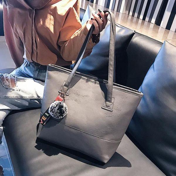 大包包女2019新款女包簡約單肩包女大容量時尚韓版大手提包托特包