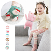 可愛動物臉譜內搭褲襪+止滑短襪組 套裝 童褲 童襪 襪子