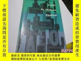 二手書博民逛書店guide罕見to modern english 精裝11905