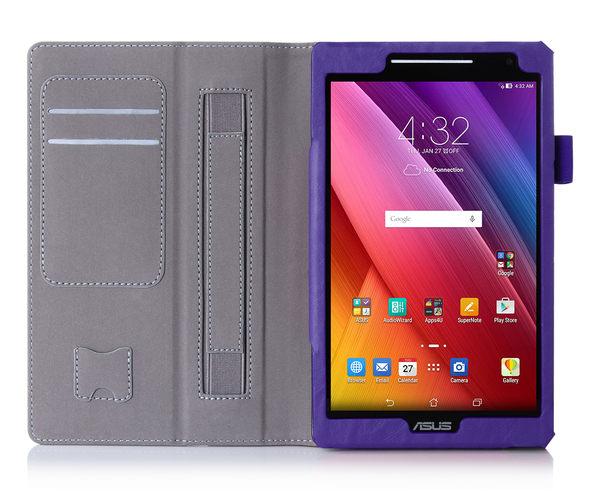 華碩ASUS ZenPad 8.0 平板手托皮套 皮夾式插卡 全包軟內皮套 ?掀可立式 防摔保護套保護殼 Z380KNL