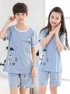 兒童睡衣夏季短袖女童純棉小孩大中童寶寶卡通男童家居服薄款套裝