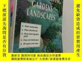 二手書博民逛書店Water-Conserving罕見Gardens And La