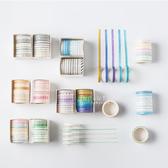 花色多種多變化黏貼紙膠帶 10入裝 膠帶 裝飾美勞用具