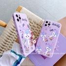 側邊紫色卡通芭蕾兔 三星 S21+ A52s A52 A71 A51 A31 M12 A50 A30 A21S 直邊防摔手機殼