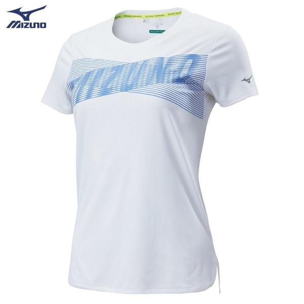 MIZUNO 女裝 短袖 T恤 SOLAR CUT 熱遮蔽 抗紫外線 吸汗快乾 後領反光 白【運動世界】J2TA020501